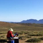 caroline Johnson en plein air artist Flinders Ranges South Australia