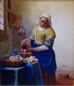 After Vermeer The Milkmaid De Melkmeid Het Melkmeisje The Kitchen Maid,