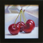 tonal realism cherry still life