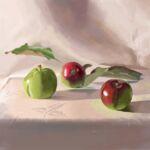 Caroline Johnson Digital Art alla prima From observation of home grown apples