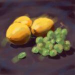 Caroline Johnson Digital Art alla prima From observation Fruit still life iPad Painting