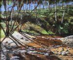 Caroline Johnson Adelaide Hills artist en plein air alla prima oil on canvas 24 x 29cm