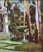 Caroline Johnson Adelaide Hills Art en plein air Adelaide Hills Heysen Trail art Oil on canvas 29 x 24