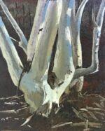 Caroline Johnson Flinders Ranges Artist Oratunga oil on marine ply en plein air