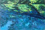 Caroline Johnson Artist Summer Pool under Elms Oil on acrylic on marine ply Unframed 100x150