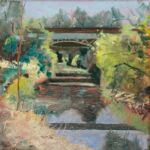 Caroline Johnson en plein air artist Oil on Arches 20 x 20 cm