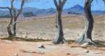 patawarta flinders Ranges mallee foreground dry drought bare ground oil on board 9 x 5
