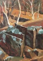 Caroline Johnson Flinders Ranges Artist Oratunga Oil on marine ply 27 x 19 cm