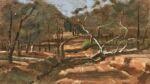 Caroline Johnson Flinders Ranges Artist driveway Oratunga Station Oil on board 9 x 5 inches